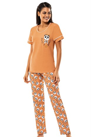 8559 Orange Panda - Erdem Bayan Pijama